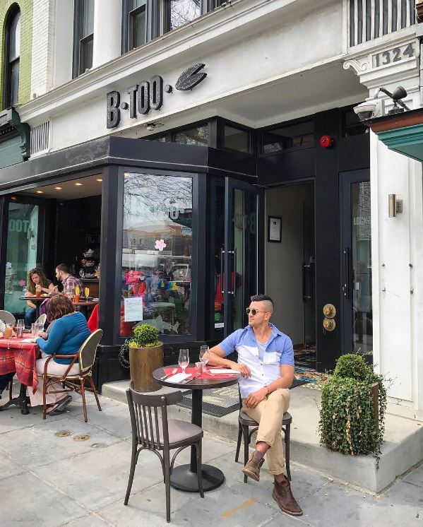 IMAGE: IG user @diegodowntown / POST: About to enjoy a delicious Belgian brunch at @btoodc and soaking in the city sidewalk vibes.