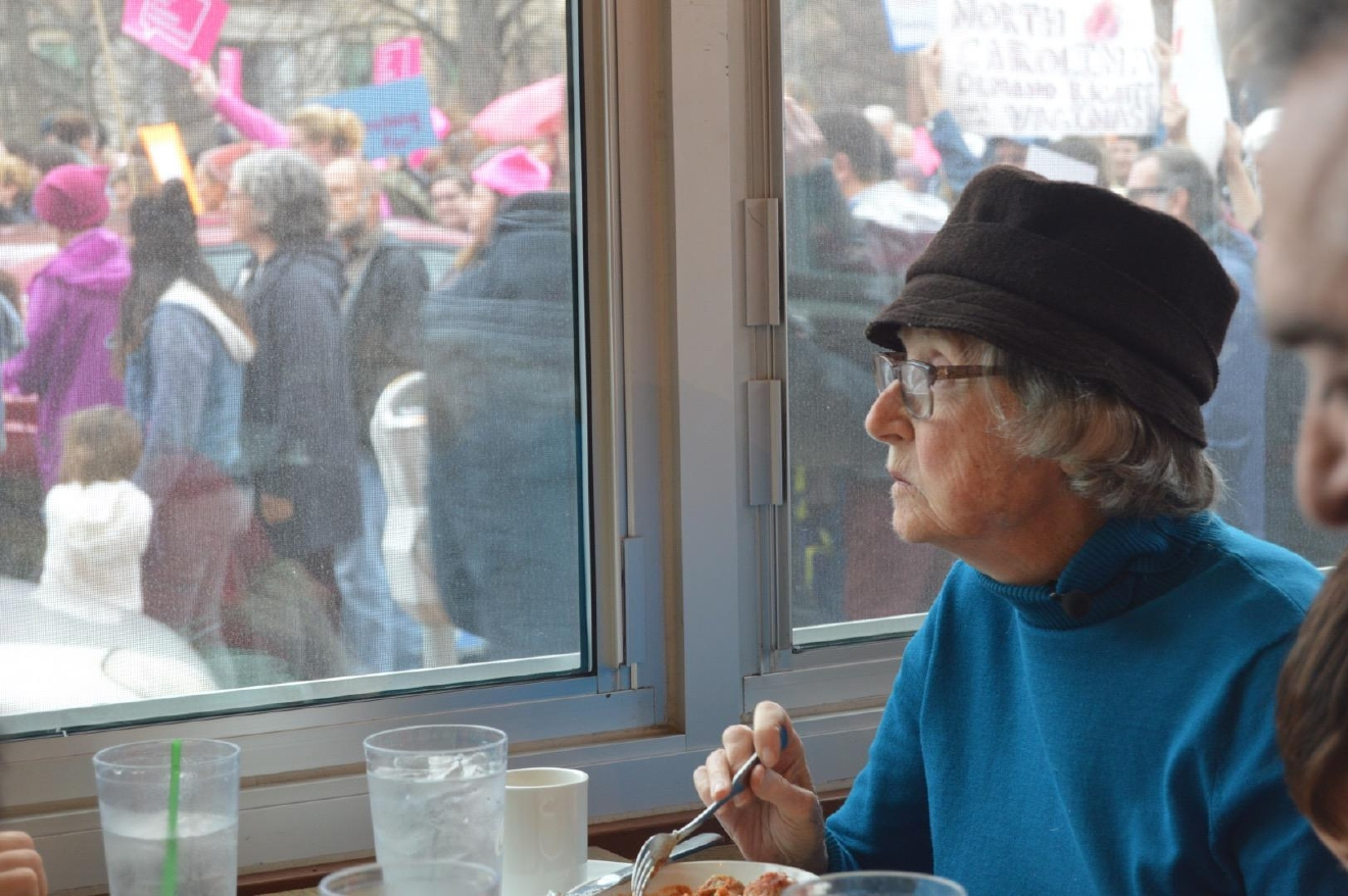 """It thrills me to see the diversity,"" said Kitty Boniske, 91. (Photo credit: WLOS staff)"