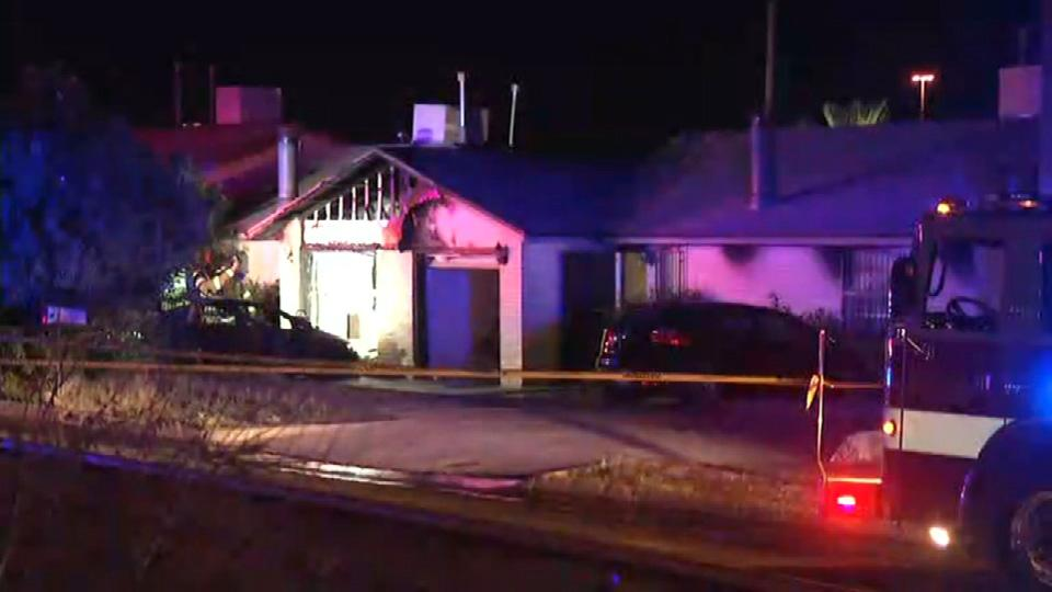 A large house fire broke out at a home on the 8900 block of Leo Street in Northeast El Paso. (Credit:KFOX14/CBS4)
