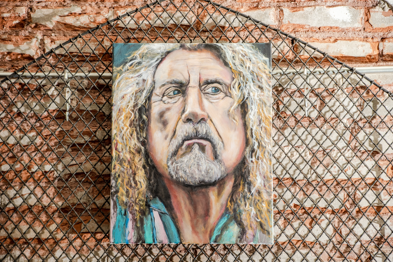A portrait of Robert Plant by Linnoir Rich with Art by Linnoir / Image: Melissa Sliney // Published: 6.26.19