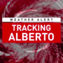 Alberto heading for Gulf Coast