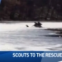 Local Boy Scouts rescue dog that fell through ice