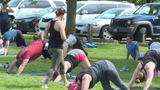 Free, community yoga sessions held in South Abington Twp. park