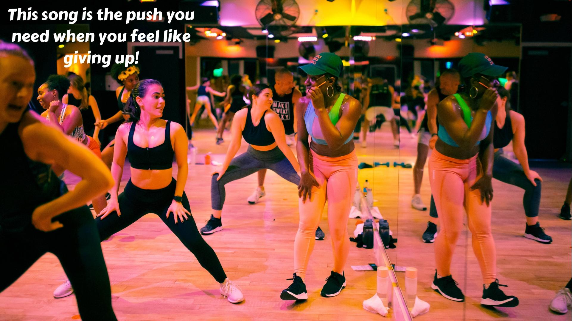 "<p>Nice For What by Drake (Uptempo Remix): ""This song is the push you need when you feel like giving up. The New Orleans Bounce beat forces you to get up, dust yourself off and TWERK!"" (Image: Courtesy 305 Fitness)</p>"