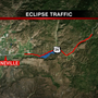 Traffic issues begin 4 days prior to Eclipse