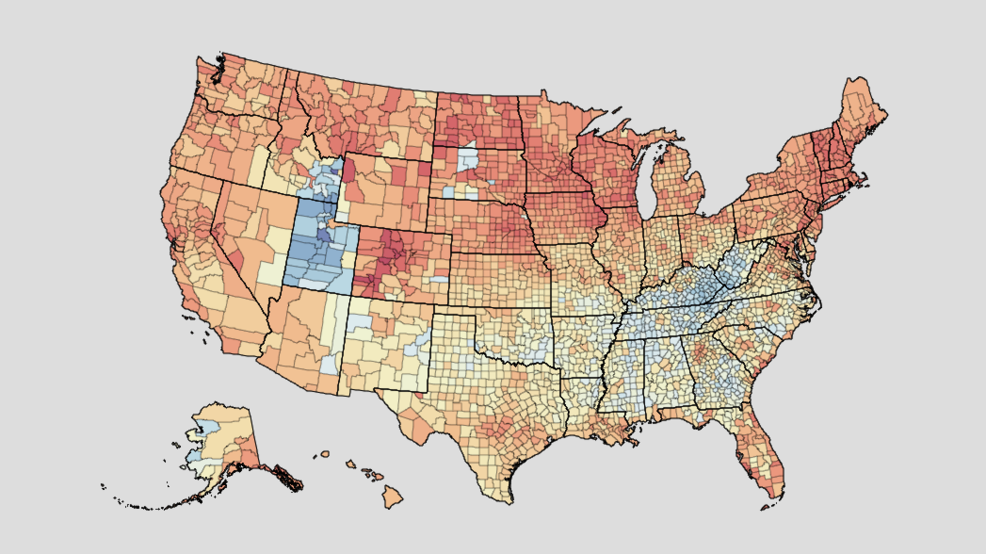 Interactive map shows obesity, alcohol rates in every county in ...