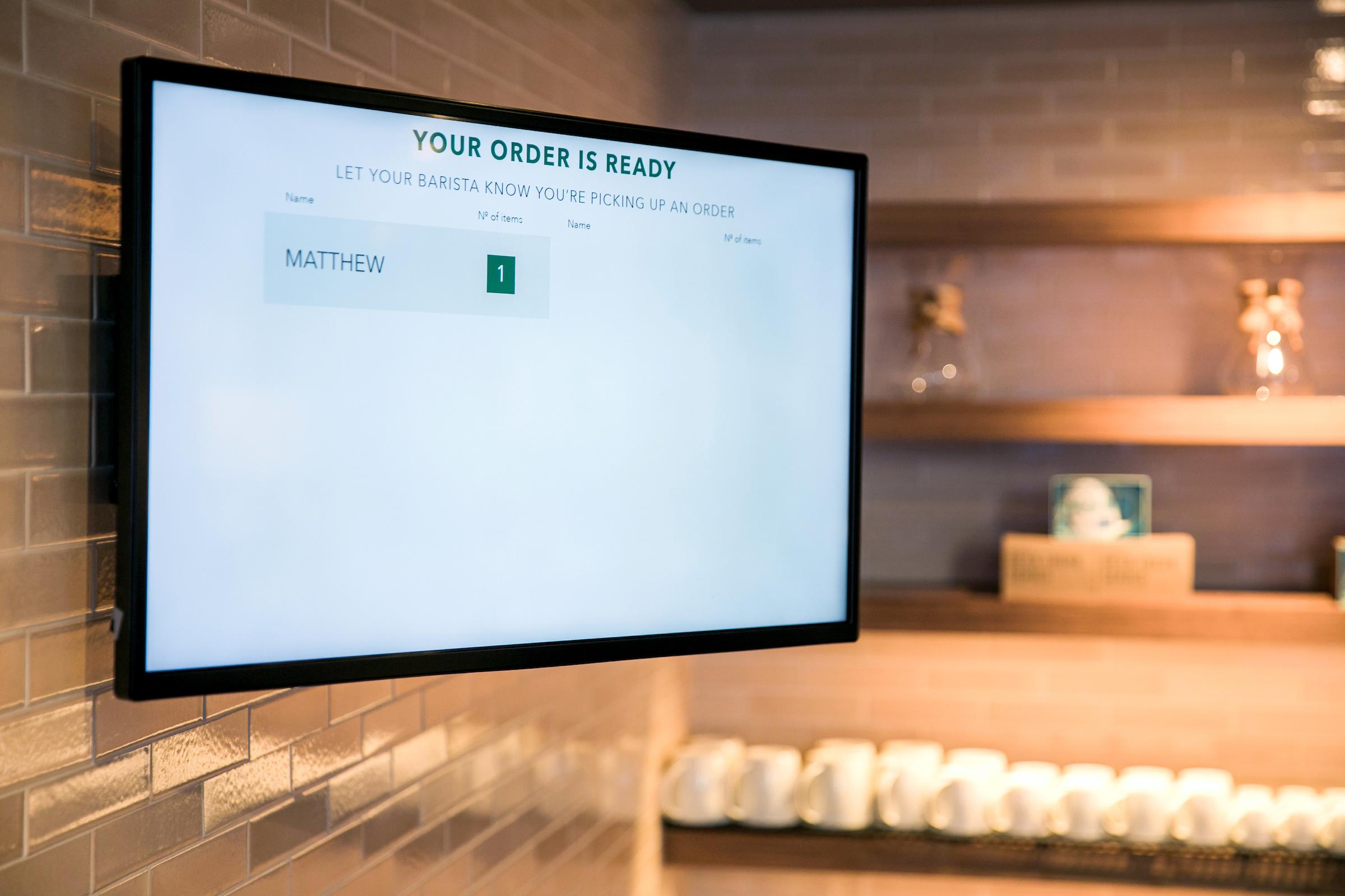 In order to retrieve your drinks, all you have to do is check out a sign in the store.{ }(Image: Joshua Trujillo, Starbucks)