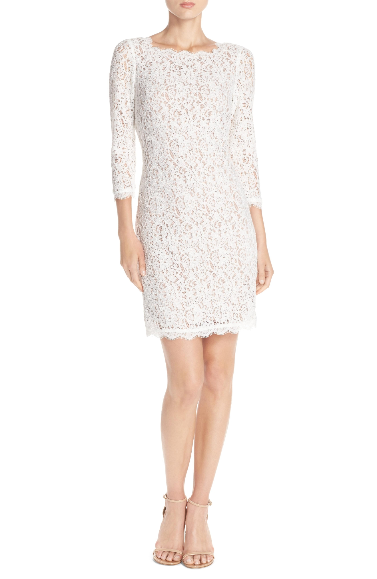 Adrianna Papell Lace Overlay Sheath Dress, $158, Nordstrom.com (Image: Courtesy Nordstrom)