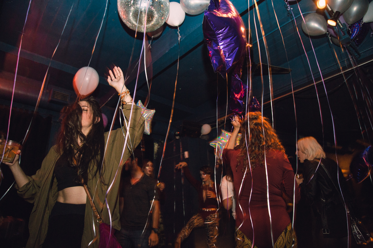 Balloons and disco balls, what more would Freddie want? [Image: Catherine Viox]