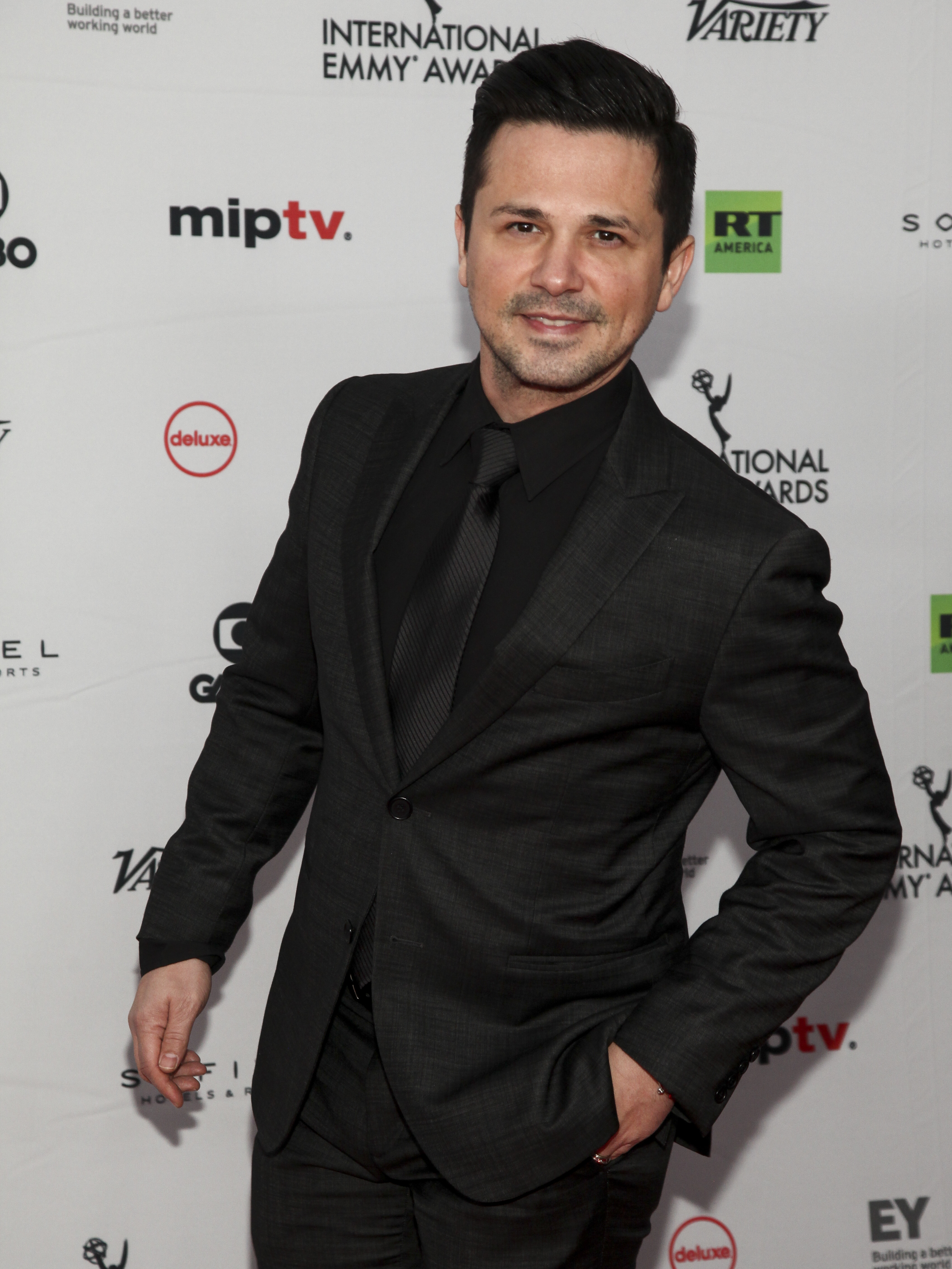 Freddy Rodriguez attends the 45th International Emmy Awards at the New York Hilton on Monday, Nov. 20, 2017, in New York. (Photo by Andy Kropa/Invision/AP)