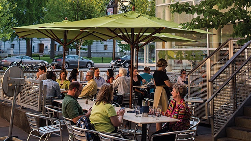 Graze's outdoor courtyard patio, 1 S. Pinckney St..jpg