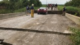 Woman uninjured as Wagoner County bridge collapses beneath her vehicle