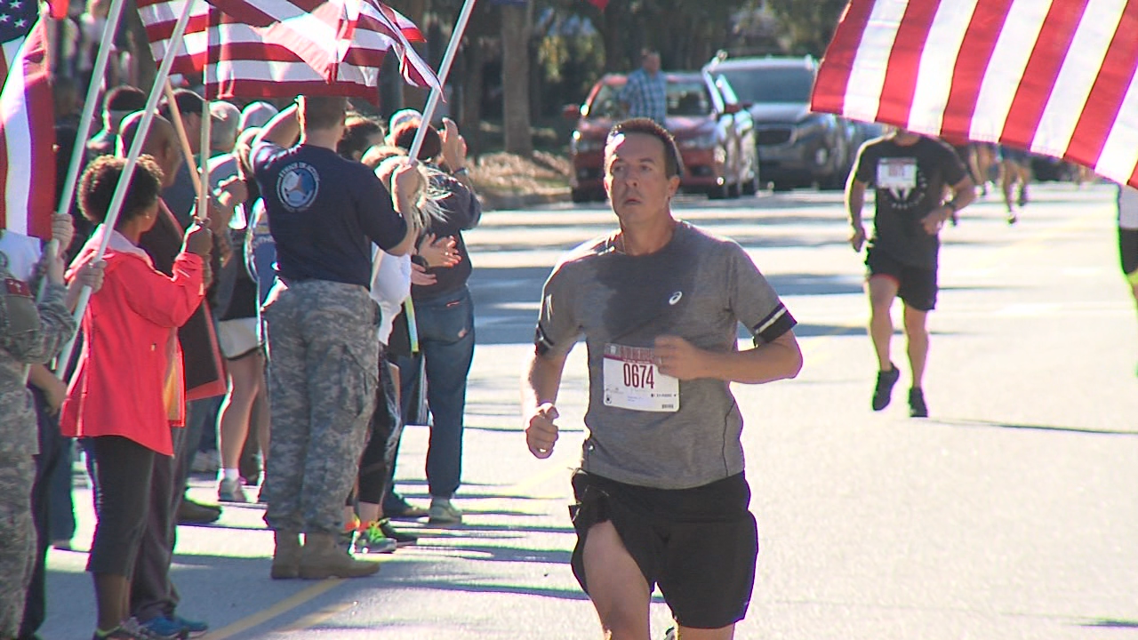 ABC News 4's very own Dave Williams at 2017 Charleston 9_11 Heroes Run 5K race (WCIV)