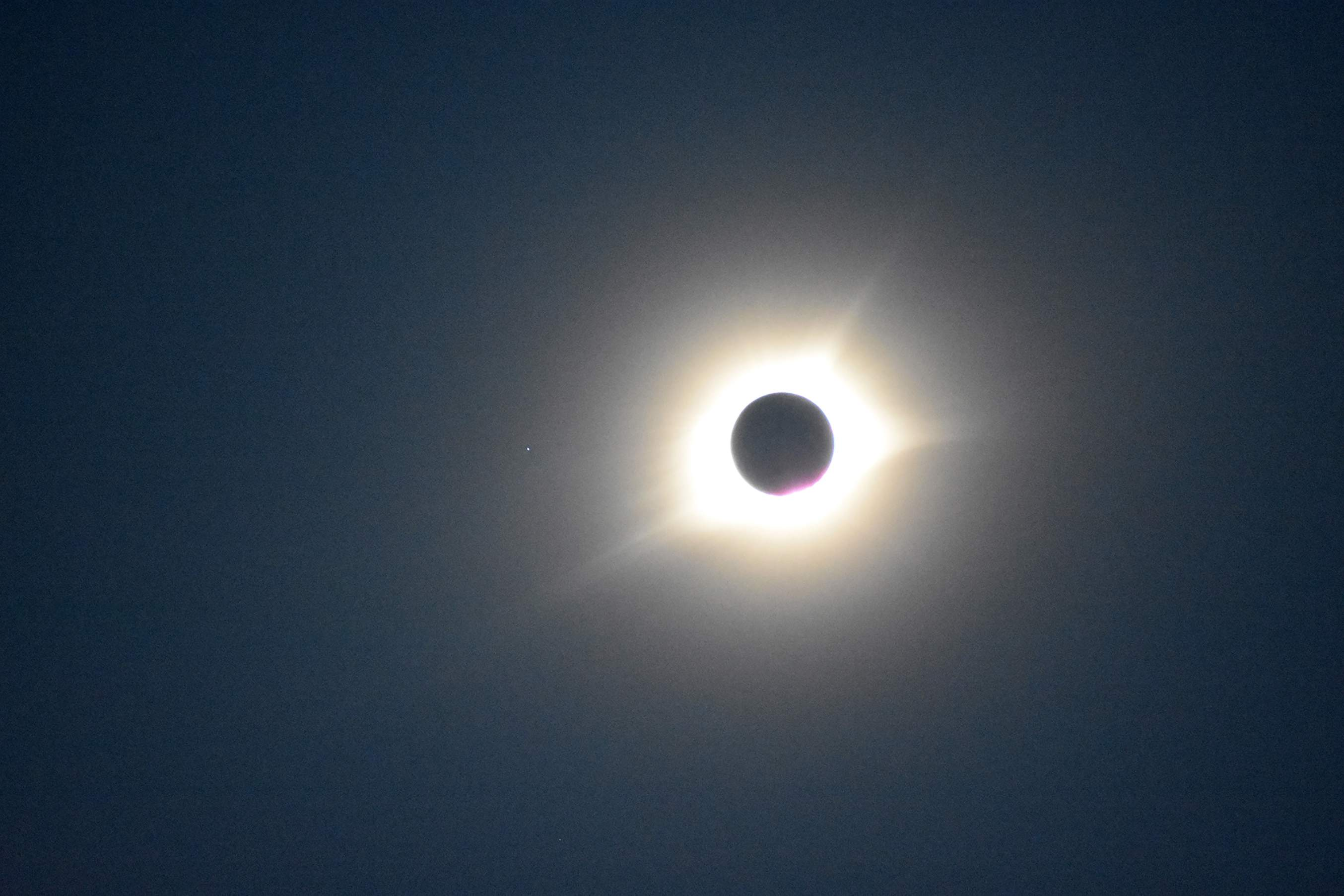 Solar eclipse totality as seen from Blue Springs at about 1:08 p.m. [Photo courtesy of city of Blue Springs]