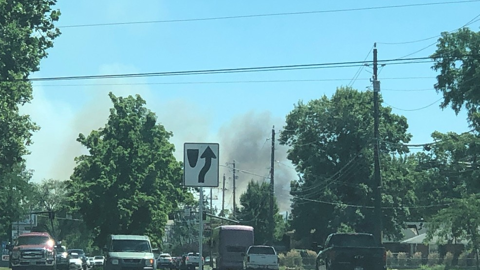 Two-acre grass fire burning near Boise Airport, BFD on scene