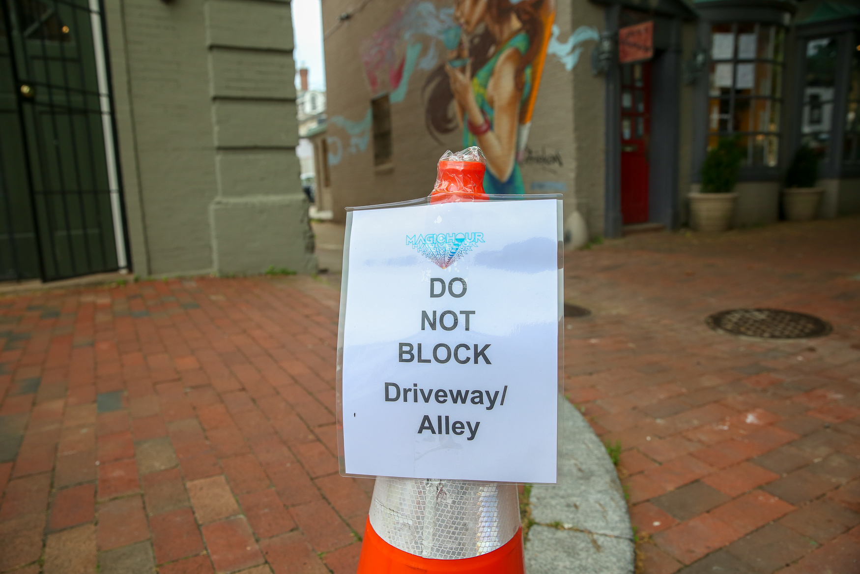 "According to the ""Emergency No Parking"" signs posted in Georgetown, P and O streets will both be closed at 32nd and 31st streets June 13 and June 14, with similar restrictions scheduled from June 28 to July 1. (Image: Amanda Andrade-Rhoades/ DC Refined)"