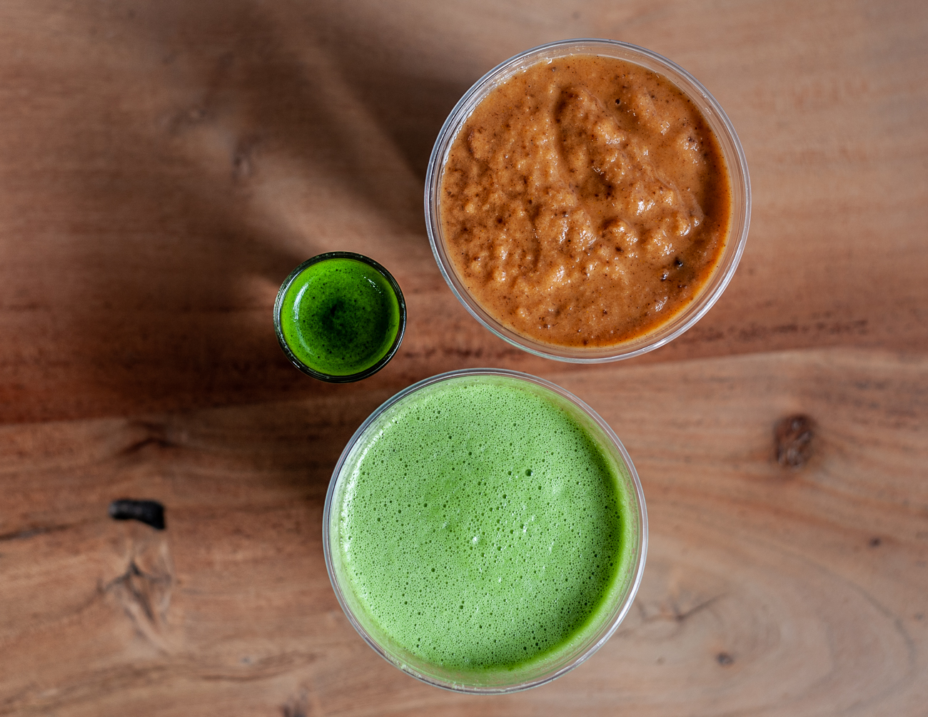 Morning Glory, OMG! (Ohm my greens!) Juice, and a shot of Wheat Grass / Image: Kellie Coleman // Published: 12.27.20