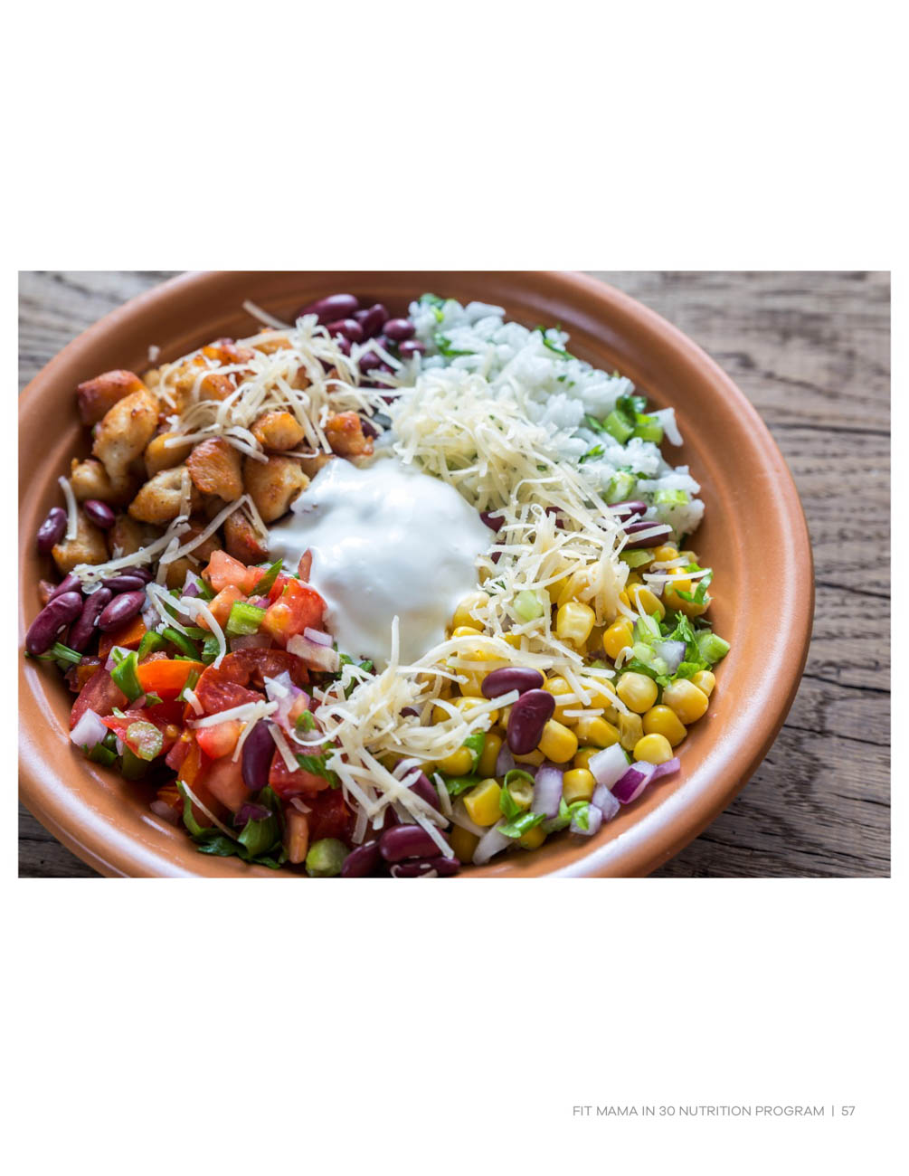 Burrito bowl{ }/ Image courtesy of Fit Mama in 30 // Published: 6.15.19