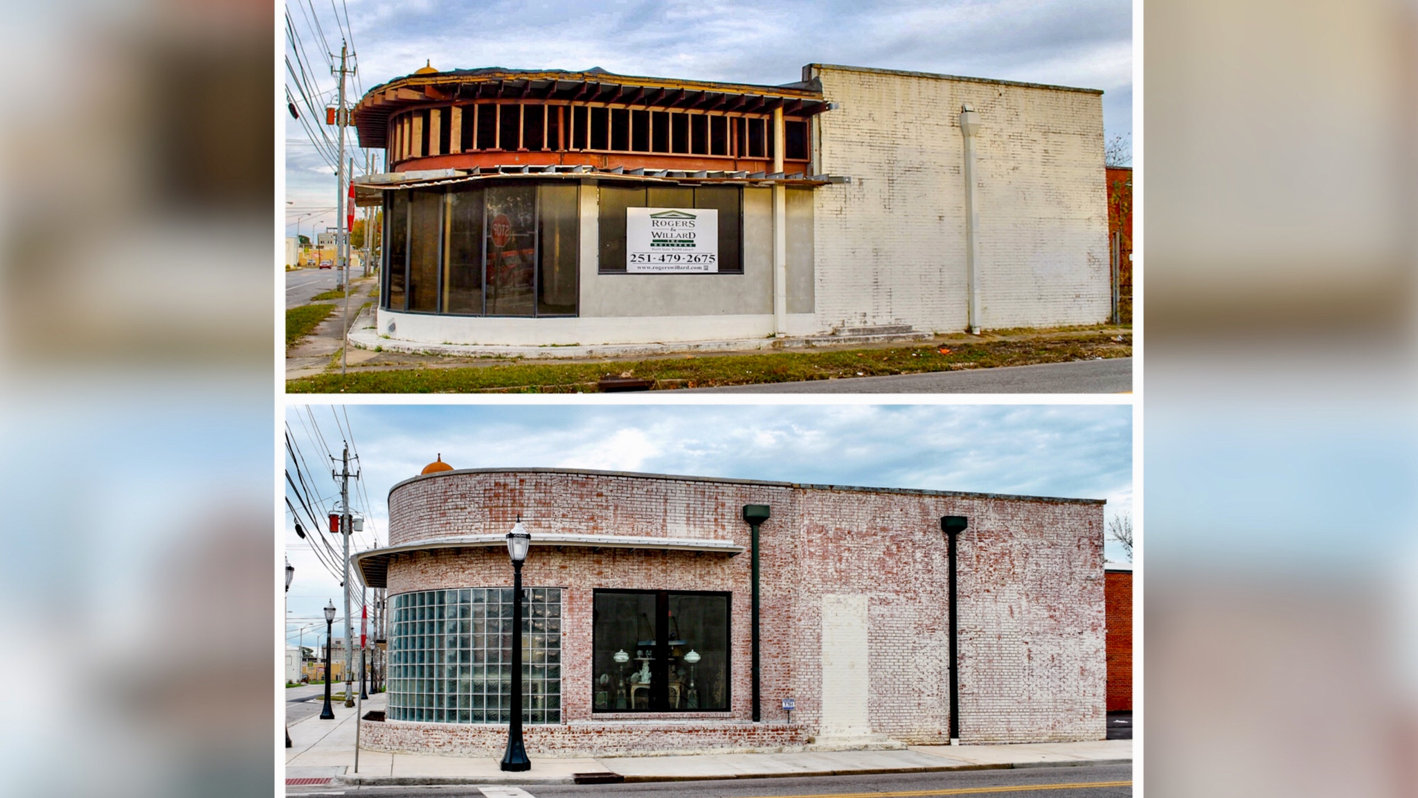 <p>Old Nash/Ford Automotive building now home to Mobile Antiques (photo: Jack Helean/McNair Preservation)</p>