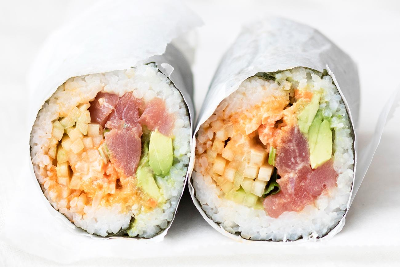 Tuna Roll with custom ingredients / Image: Allison McAdams // Published: 2.11.18