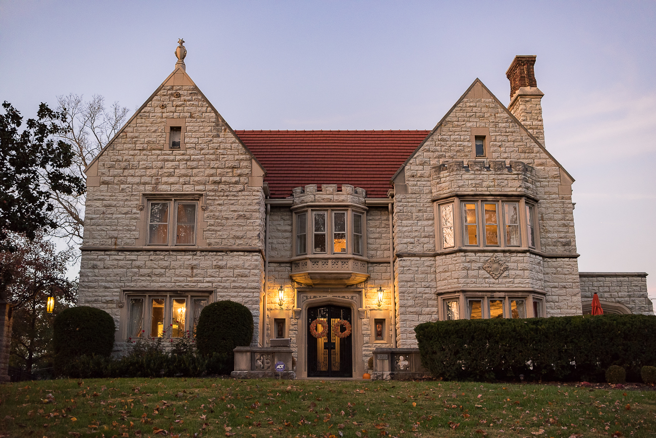 Stephen A. Gerrard, a poverty-stricken youth who became a wealthy and prominent grocery tycoon by the turn of the 20th Century, built a Gothic Tudor Revival house at 748 Betula Avenue in North Avondale in 1915. The house sits upon the highest point in the neighborhood and is also notable for having the largest residential pipe organ in the United States. It is the personal residence of Tiffany Zerby and Adam Heider today. / Image: Phil Armstrong, Cincinnati Refined // Published: 12.11.17