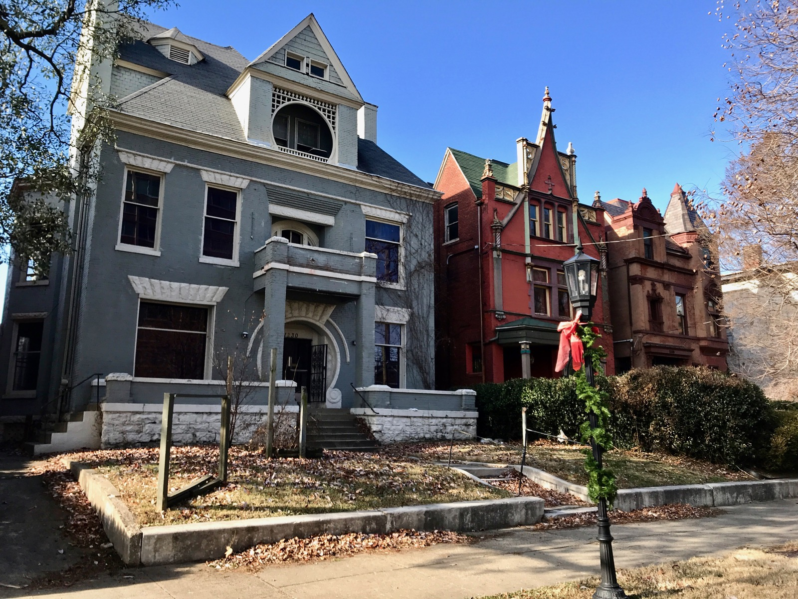 "Built in the late 1800s, Lousiville's historic district—termed ""Old Louisville""—runs along Second and Third Streets less than a mile from downtown. The collection of grand mansions constitutes one of the densest architectural enclaves in the United States. Styles include Romanesque, Victorian Gothic, Italianate, Queen Anne, and Chateauesque. Heavy ornamentation and intricate details abound throughout. / Image: Brian Planalp // Published: 12.30.17"