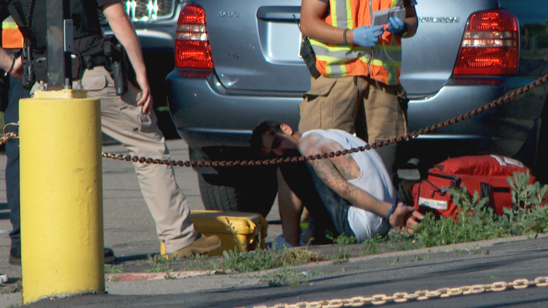 Police arrest man after car chase in South Salt Lake (Photo: Jeremy Harris)