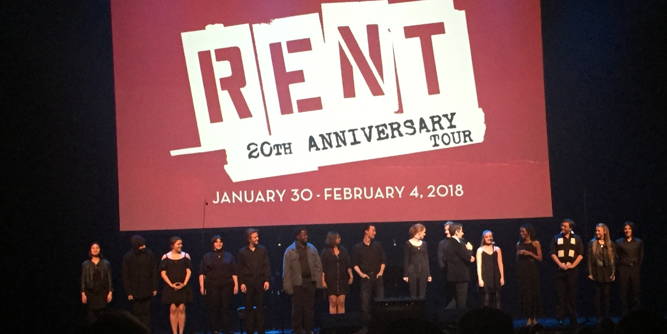 "Rent - The 20th Anniversary Tour was revealed as an upcoming tour during the Smith Center for the Performing Arts 2017-2018 Broadway series preview Tuesday, Feb. 28, 2017, in Reynolds Hall. Students from Las Vegas Academy performed ""Seasons of Love"" during the presentation. (Jami Seymore 
