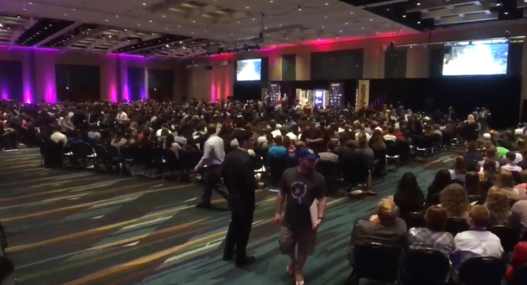 Donald Trump Jr. spoke Tuesday in front of thousands of young conservatives in West Palm Beach. (WPEC)