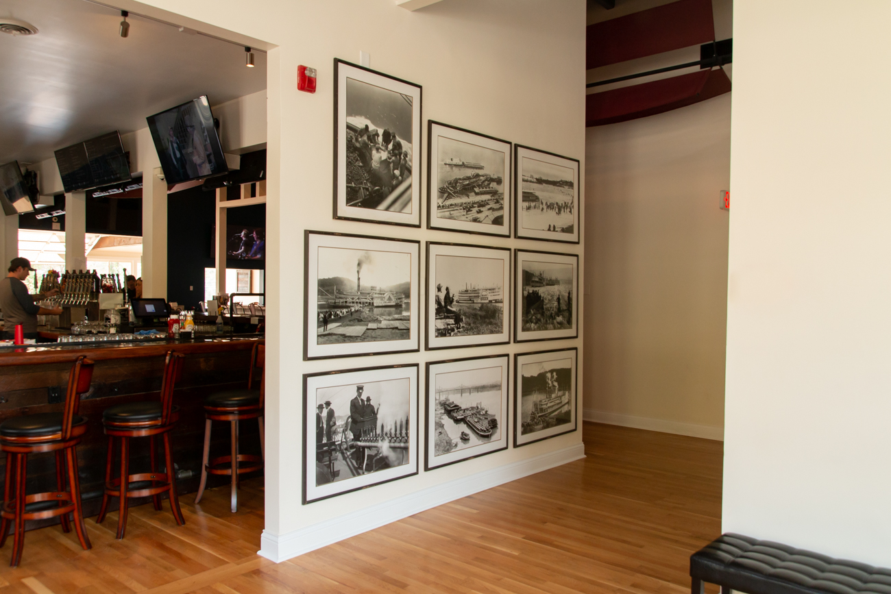 "When they first purchased the building that was to become Dead Low, it contained more than 30 historic black and white photographs depicting life on the river in the late 1800s and early 1900s. ""As we looked through the photographs, we knew our name and identity was part of this river history—and it absolutely was,"" Hall says. / Image: Elizabeth Lowry // Published: 11.5.19"