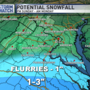Still an outside chance for light snow south of DC Sunday as Winter Storm hits Southeast