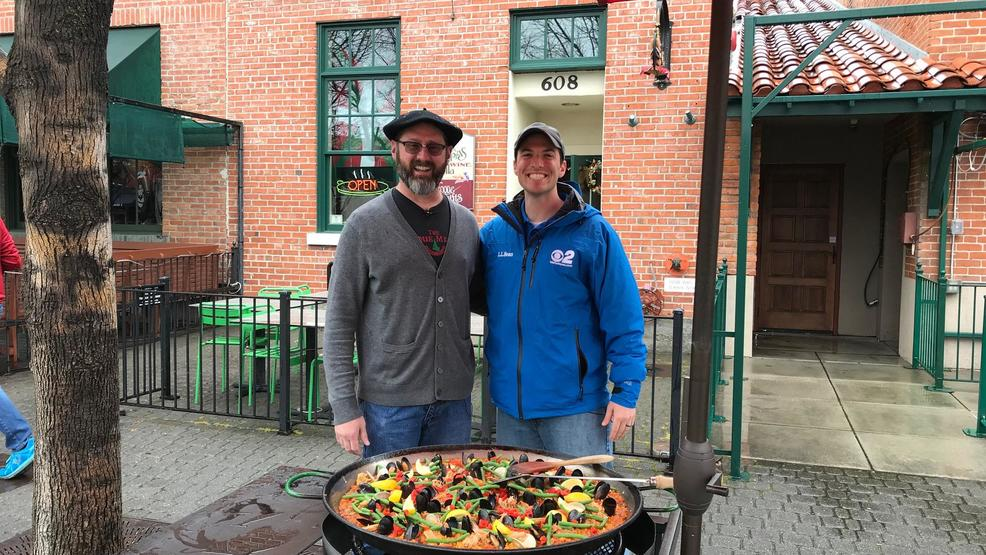 Making a Boise staple: paella on the Basque Block