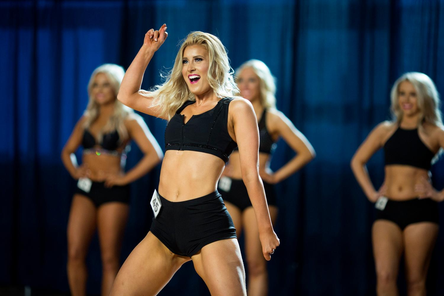 Dancers performed a choreographed routine and spoke briefly about themselves. The entire evening was live broadcasted on the Seahawks website. (Sy Bean / Seattle Refined)