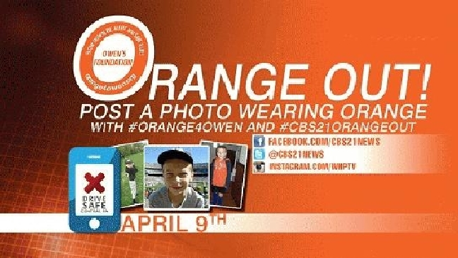 CBS 21 hosting Orange Out with Owen's Foundation