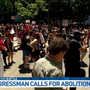 Rally to abolish ICE outside Portland City Hall, Rep. Blumenauer voices support