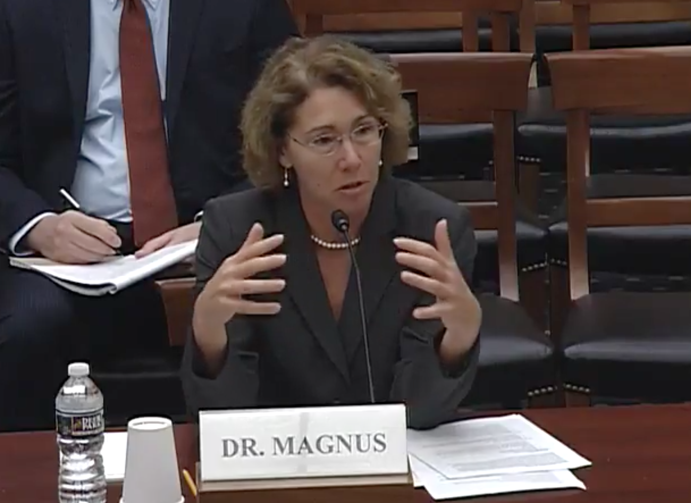 Executive Director of the American Institute of Aeronautics and Astronautics (AIAA) Dr. Sandra Magnus / Photo: House Science, Space and Technology Committee/YouTube