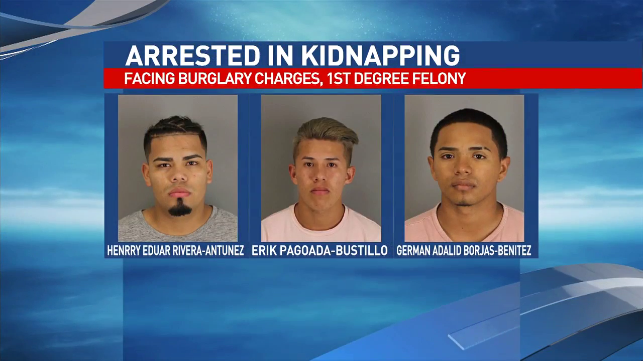 German Adalid Borjas-Benitez, Henrry Eduar Rivera-Antunez and Erik Pagoada-Bustillo, both 17,  are charged with burglary of a habitation.
