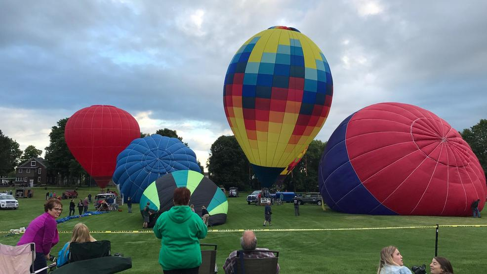 Hot air balloons featured at the festival, August 12, 2017. (WLUK/Lauren Kalil)
