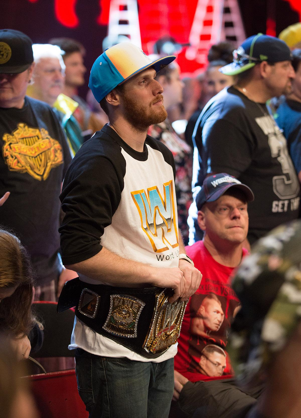 Wrestling fans filled Portland's Moda Center on for a live broadcast of Monday Night RAW, where some of WWE's  biggest stars step into the ring for a night of action-packed matches. (KATU photo by Tristan Fortsch 10-16-2017)