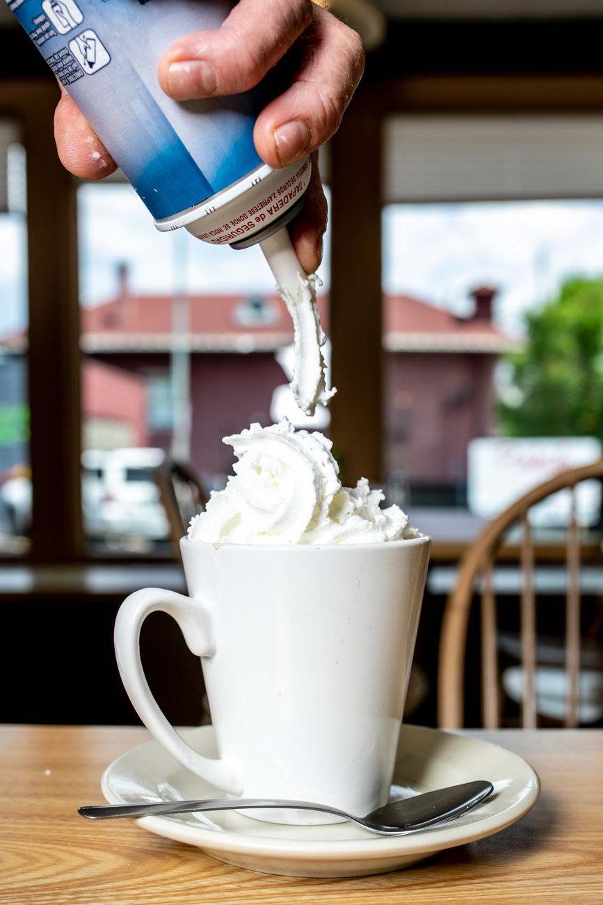 <p>Cafe Mocha: House coffee with chocolate syrup, steamed milk, and topped with whipped cream / Image: Amy Elisabeth Spasoff // Published: 6.24.18</p>