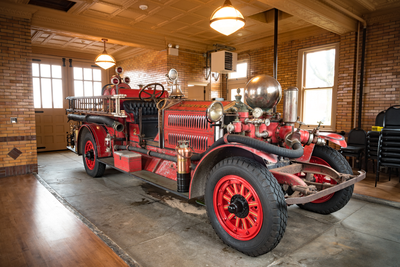 The Norwood Fire Company No. 2 building sits at the corner of Montgomery Road and Ivanhoe Avenue. It was built in 1914, and sat vacant for nearly 30 years before finally being restored. This nearly 100-year old Norwood fire engine was built locally by Ahrens-Fox in 1920. The engine saw use until the 1950s when it was finally retired. ADDRESS: 3901 Montgomery Road (45212) / Image: Phil Armstrong, Cincinnati Refined // Published: 2.14.19