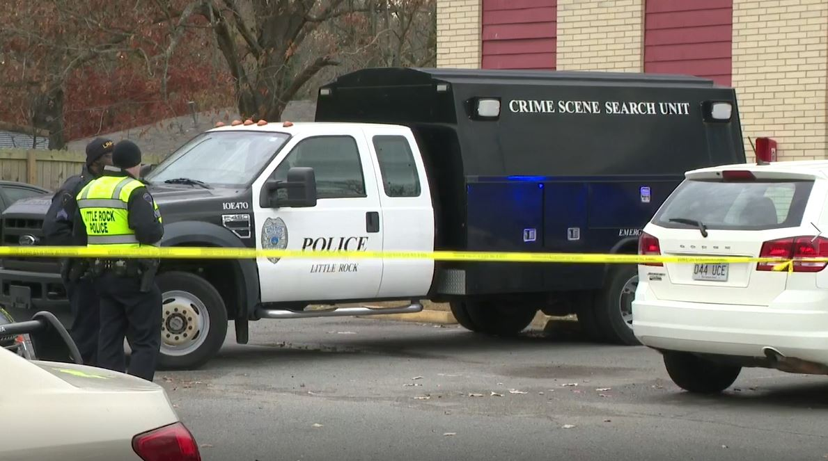 Little Rock police say a 4-year-old, 5-year-old and a woman were found dead at the Rosewood apartments on Tuesday. (KATV Photo)