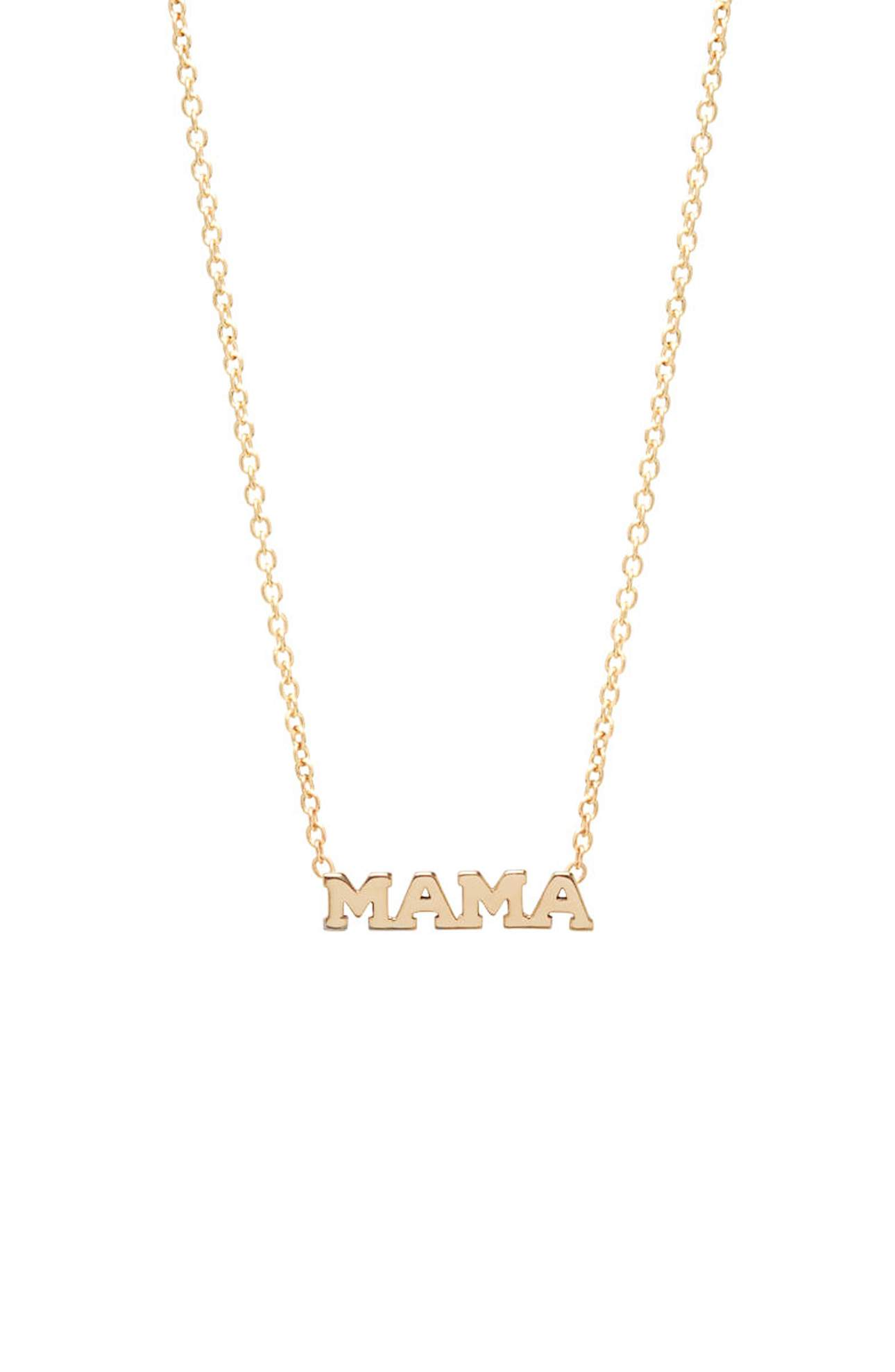 This 14-karat gold pendant that spells out the word 'Mama' is darling and sentimental.{ }Nordstrom, $295.{ }(Image: Nordstrom){ }