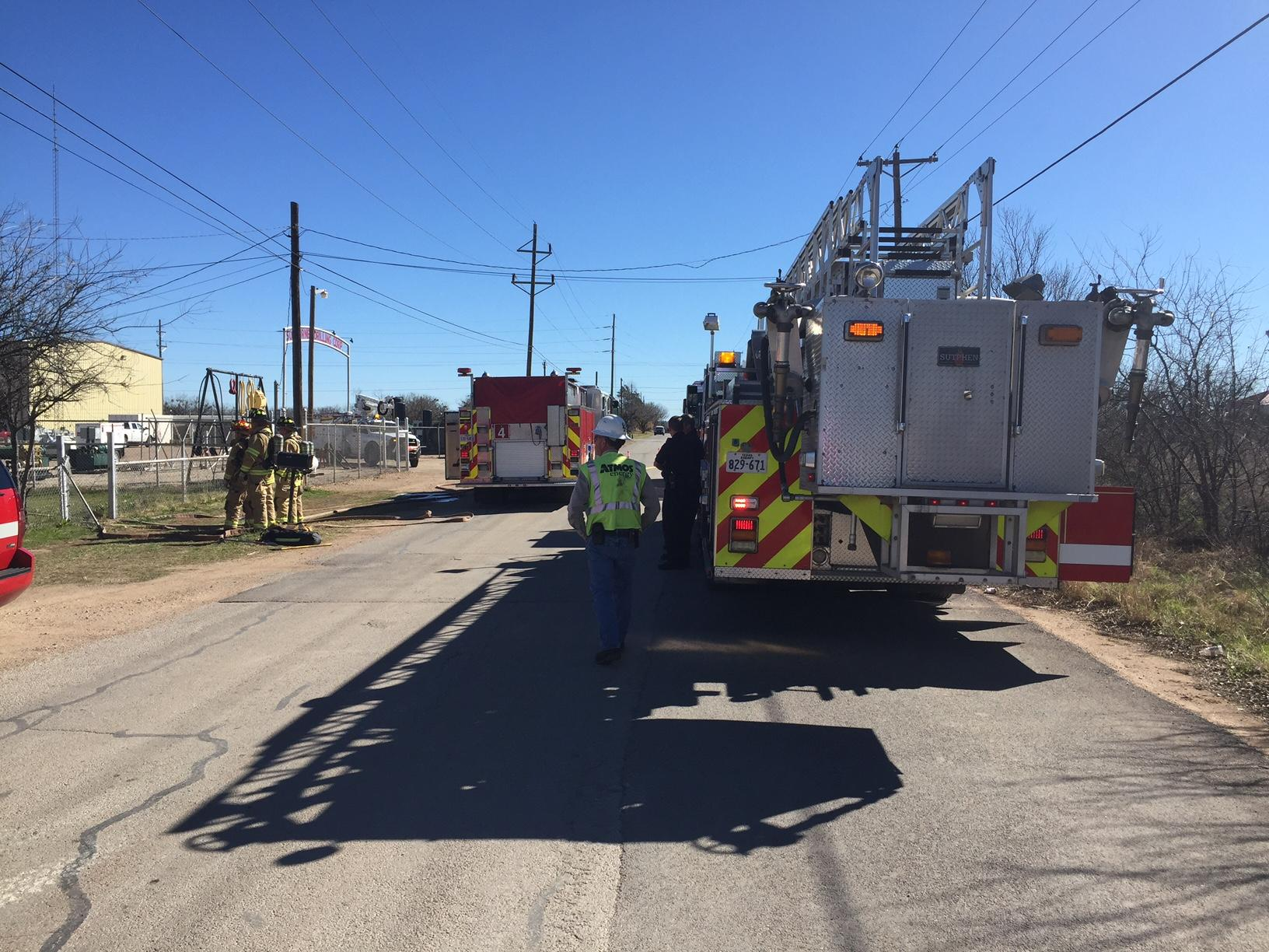 Firefighters fought a house fire Tuesday morning in the 800 block of Anson Avenue in north Abilene.