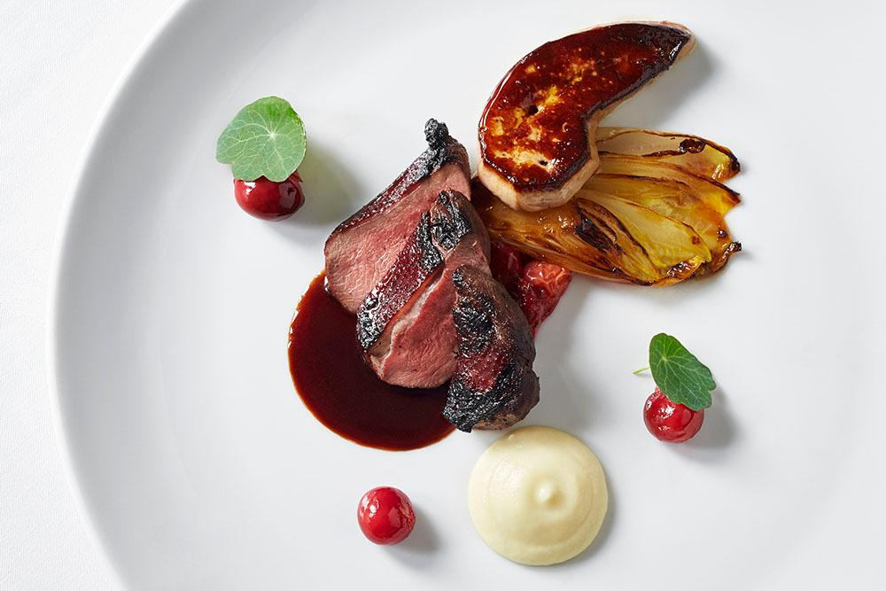 Dishes like this one helped chef-proprietor Patrick O'Connell earn his third Michelin star this year.{ } (Image: Courtesy The Inn at Little Washington)