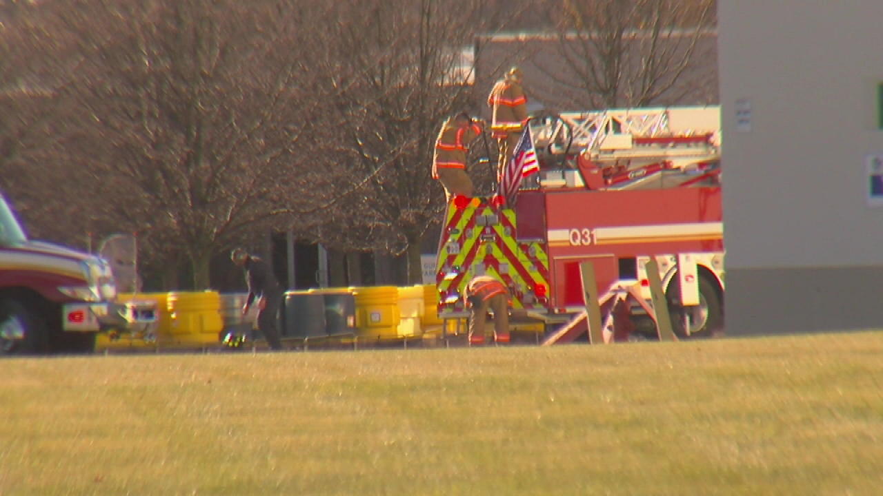 Firefighters and HazMat crews respond to a fire at a Commonwealth Chemicals in Fairfield{&amp;nbsp;} (WKRC)<p></p>