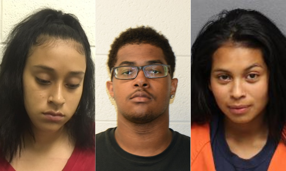 From left to right: Ebelin Jojana Lopez, Terrance Tyrese Martin, Seni Jimenez Blanco (Manassas City Police)