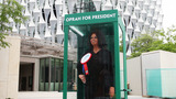 PHOTOS | Oprah figure appears outside US Embassy in London during Trump visit