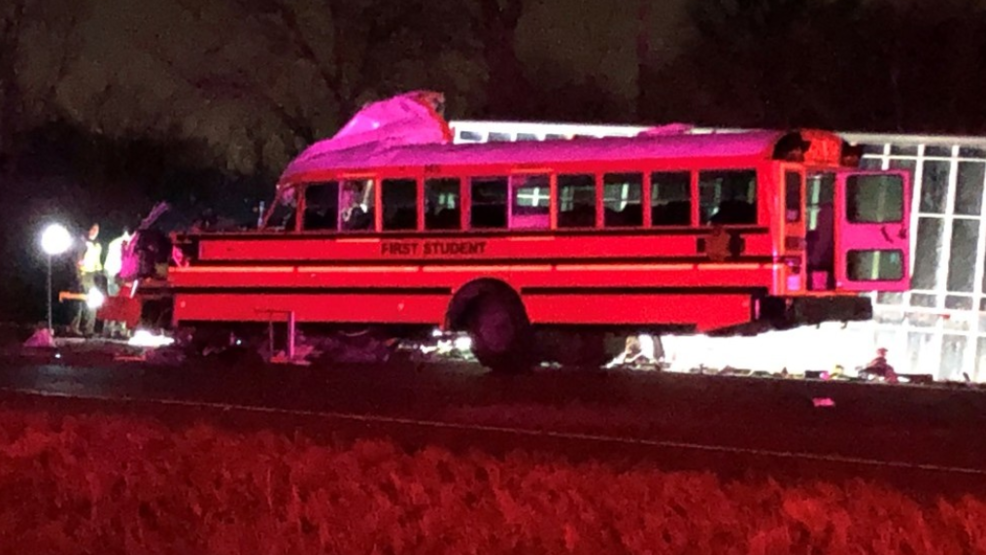 Truck collides with school bus in Illinois killing 2 and