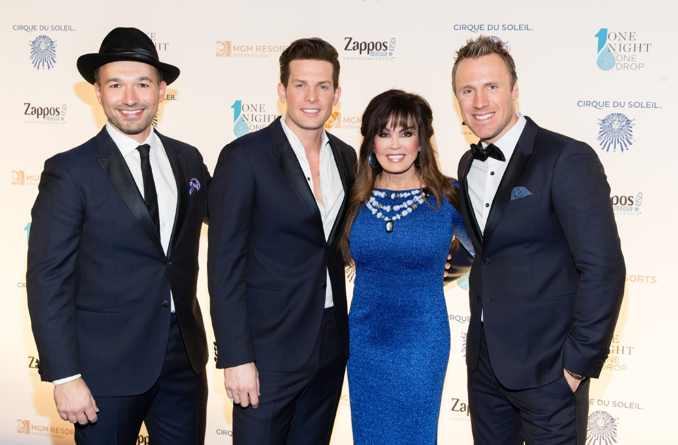 The Tenors and Marie Osmond at One Night for One Drop 2017. (Photo courtesy of Erik Kabik/ErikKabik.com)